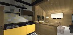 PROJETO 100 m2   SALA / COZINHA 3D 05