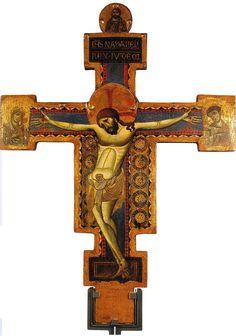 Giunta Pisano (Giunta Capitini, detto) - Croce di San Benedetto -1250-1260 circa - Museo nazionale di San Matteo a Pisa.