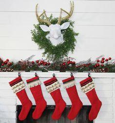 Vintage Inspired Christmas Stockings