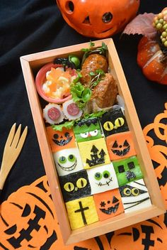 ハロウィンモザイク弁当 Halloween Food For Party, Happy Halloween, Cute Bento Boxes, Asian Recipes, Ethnic Recipes, Samhain, Cute Food, Food Art, Food Inspiration