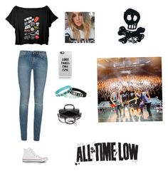 """""""All time time low concert"""" by sopluvesonedirection ❤ liked on Polyvore featuring Yves Saint Laurent, Converse and Casetify"""