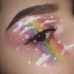 eyeshadow rainbow looks \ eyeshadow rainbow _ eyeshadow rainbow looks _ eyeshadow rainbow tutorial Eye Makeup Designs, Eye Makeup Art, Skin Makeup, Makeup Eye Looks, Eyeshadow Makeup, Makeup Ideas, Eyeliner, White Eyeshadow, Makeup Guide