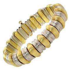 Henry Dunay Gold Platinum Sabi Finish Bracelet