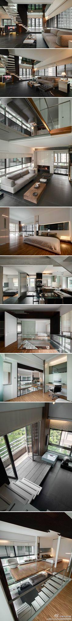 A modern duplex flat in Taipei - by TBDC