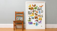 A limited edition screen print from the Wee Society – there is a letter hidden in each animal.