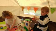 Busy children in the Adventure Play Tent!