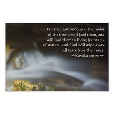 Revelation 7:17 poster from Scripture Classics #zazzle #gift #photogift #Christian