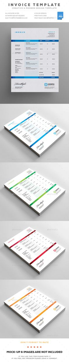 90 best Invoices images on Pinterest Invoice template, Invoice