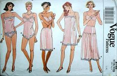 Vintage 80's Vogue 9765 Lingerie Pattern by MemoryMadeMercantile