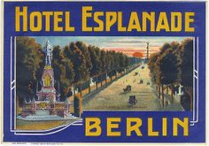 """Das Grand Hotel Esplanade am Potsdamer Platz gehörte vor und während der """"Goldenen Zwanziger Jahre"""" zu den berühmtesten Hotels Berlins. Das Hotel wurde 1907/1908 errichtet. In den 1920er Jahren logierten hier Stars wie Charlie Chaplin und Greta Garbo. Billy Wilder arbeitete hier vor Beginn seiner Karriere als """"Eintänzer"""", Marek Weber spielte mit seinem Orchester zum Tanz auf. Von 1925 bis 1937 war das Orchester Barnabas von Gezcy das Hausorchester."""