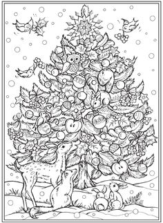 Welcome to Dover Publications Cute Coloring Pages, Christmas Coloring Pages, Adult Coloring Pages, Coloring Sheets, Free Coloring, Coloring Books, Christmas Colors, Christmas Holidays, Christmas Ideas