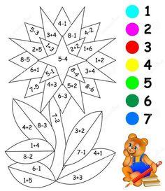 Math Addition Worksheets, Kids Math Worksheets, Math Coloring Worksheets, Kindergarten Math Activities, Preschool Activities, Numbers Preschool, Math For Kids, Exercises, Children