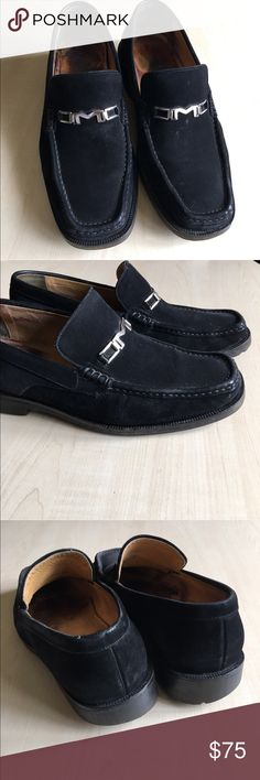 Bruno Magli Men's Slip On Shoes Bruno Magli Men's Dress Slip On Shoes   Suede  Color: Black  Size: 9 Condition: preowned, cosmetic blemish on both shoes  -C- Bruno Magli Shoes Loafers & Slip-Ons