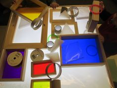 shapes and color on the light table