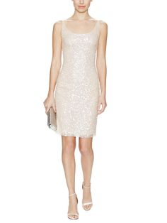 Sequined Scoopneck Sheath Dress by Reem Acra at Gilt