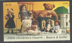 Dolls And Bears: New Zealand 2000 Bears And Dolls Ms Vf Umm Mnh -> BUY IT NOW ONLY: $3.99 on eBay!