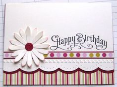 handmade birthday card ... like this design ... Stampin' Up!