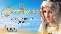 Santo Rosario - Misterios de Luz - Jueves Amen, Google Search, Saints, Prayers, Words, Prayer To God, Religious Quotes, Rosaries, Artist