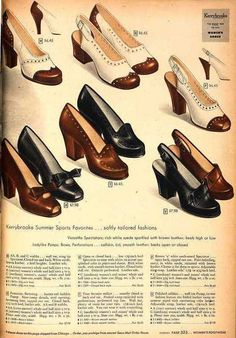 Shoe Fetish by vintage laura, via Flickr - 1948.  The two tones have my heart.
