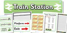 Train Station Role Play Pack - Train Station role play, display, banner, poster, post office, role play, train, station, tickets, platform, ...