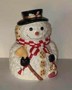cookiejar.quenalbertini: Gibson Snowman Cookie Jar