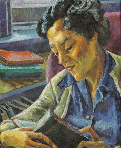Margret Grump Trude Waehner (Áustria, 1900-1979) óleo sobre tela, 61 x 50 cm