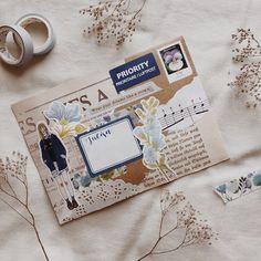 Envelop Art, Mail Art ideas, pen pal letters and snail mail DIY Envelope Lettering, Envelope Art, Pen Pal Letters, Cute Letters, Letters Mail, Aesthetic Letters, Mail Art Envelopes, Snail Mail Pen Pals, Decorated Envelopes