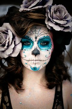 Day of the Dead Bride (I know it's not halloween proper but it's great makeup.)