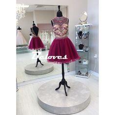 Homecoming Dress, Burgundy Dress, Nude Dress, Illusion Dress, Beaded Dress, Dress Illusion, Bodice Dress