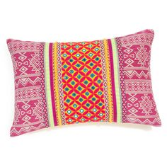 Coussin en coton multicolore 30 x 45 cm NAYANA   Maisons du Monde