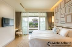 Interior design of the garden view room at U Sathorn Hotel in Bangkok. Photographed by Micha Schulte. http://michaschulte.com