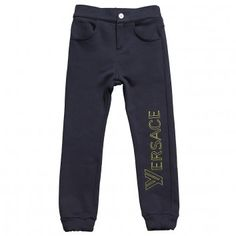 5b080e803f8 Young Versace Boys Jersey Branded Trousers at Childrensalon.com