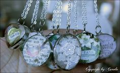 Silver soldered double bubble Spring charms from Boxwood Cottage.