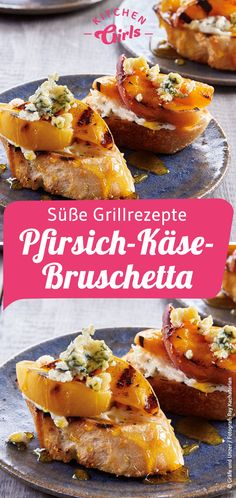 süße Grillrezepte: Pfirsich-Käse-Bruschetta Rezept Best Picture For grilling terraza For Your Taste You are looking for something, and it is going to tell you exactly what you are looking for, and you Gourmet Sandwiches, Healthy Sandwiches, Sandwiches For Lunch, Sandwich Fillings, Sandwich Shops, Barbecue Recipes, Grilling Recipes, Empanadas, Bruschetta Recept