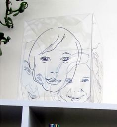 Getting the kids to draw their face with a transparency and a mirror.  Fun idea.  Could do with teams