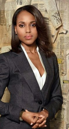 Olivia Pope...love her or hate her everything is on point in this picture. The picture of professional.