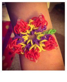 Flower loom bracelet