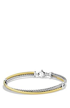 David Yurman 'Crossover' Bracelet with Gold