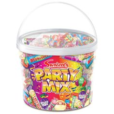 Party-Mix Cheap Sweets, Fruity Pops, Cat Themed Parties, 2000s Party, Card Factory, Jelly Babies, Party Mix, Party Bag Fillers