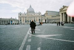 St. Peter's Square and Cathedral in Rome, IItaly