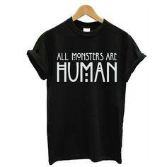 La nouvelle mode 2016 été femmes Style Punk t   shirt tous les monstres sont…