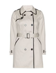 Trench Coat w/ Faux Leather Details
