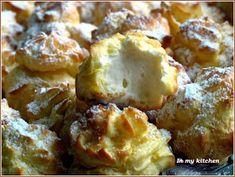 Rozpływają się w ustach. Polecam:)  Składniki na ciasto ptysiowe: 80 ml wody; 100 ml mleka; szczypta soli; 1 łyżec...