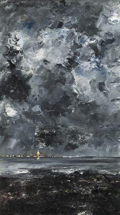 August Strindberg (Swedish, 1849-1912) The Town, 1903 Oil on canvas, 94,5 x 53 cm