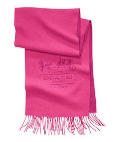 COACH CASHMERE HORSE AND CARRIAGE SCARF - Hats, Gloves & Scarves - Handbags & Accessories - Macy's
