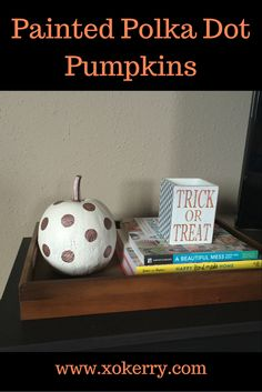 DIY painted polka dot pumpkins