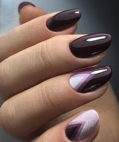 Dazzling Dark Purple Nail Art Designs