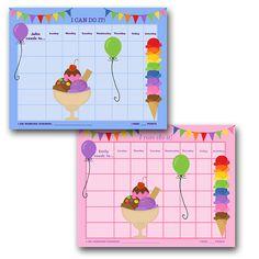 Printable Customizable Child Reward Chart Chore Chart