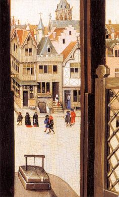❤ - Robert Campin (1375 - 1444) - Mérode altarpiece (detail) - Metropolitan Museum of Art,Manhattan