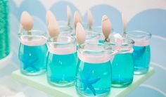 jelly with starfish in it. Cute for an under the sea party